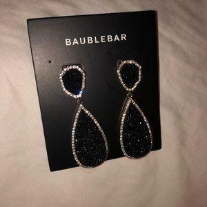 Baublebar druzy drop earrings with rhinestones